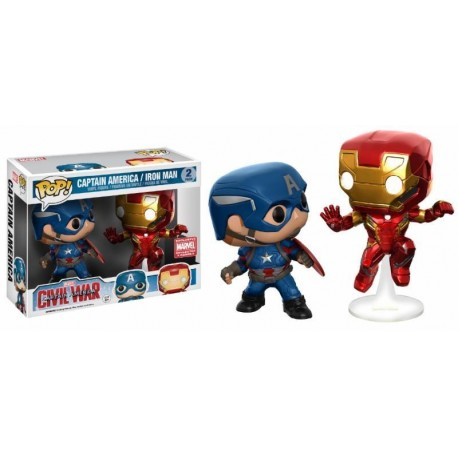 Pop! Marvel Captain America & Iron Man